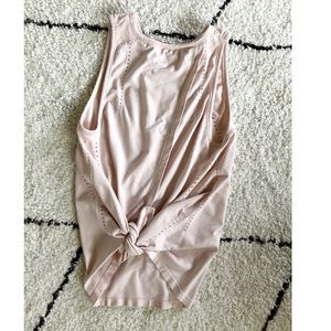 Light Pink Athleta Tie-Back Tank